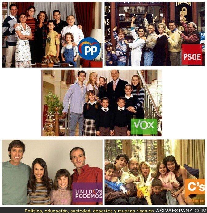 127168 - Cada partido político tiene una serie