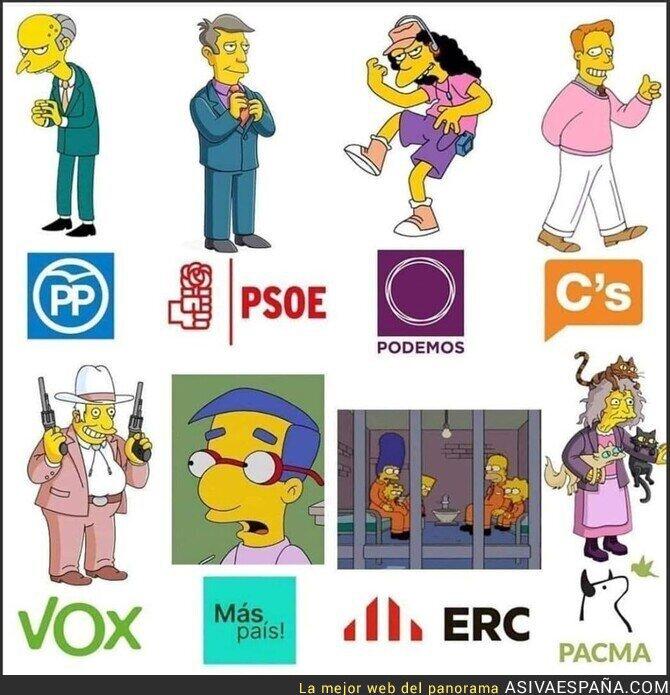 127712 - Los partidos políticos según Los Simpson