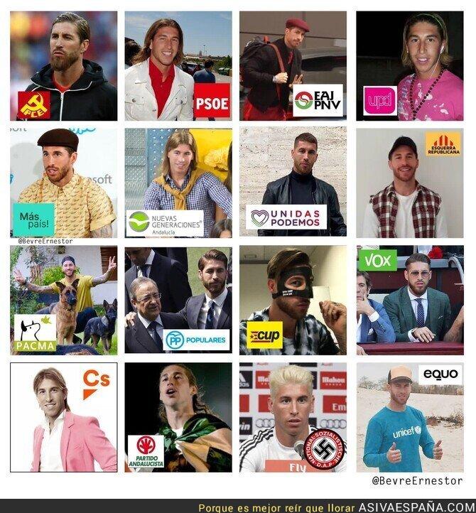 128223 - Las diferentes opciones políticas si fueran Sergio Ramos