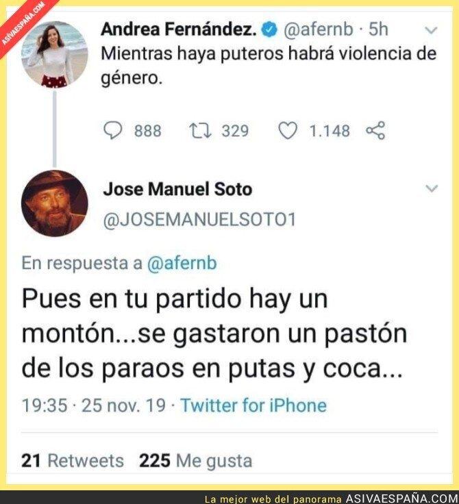 128289 - Zasca a una sociata que quiere hacer méritos en el PSOE
