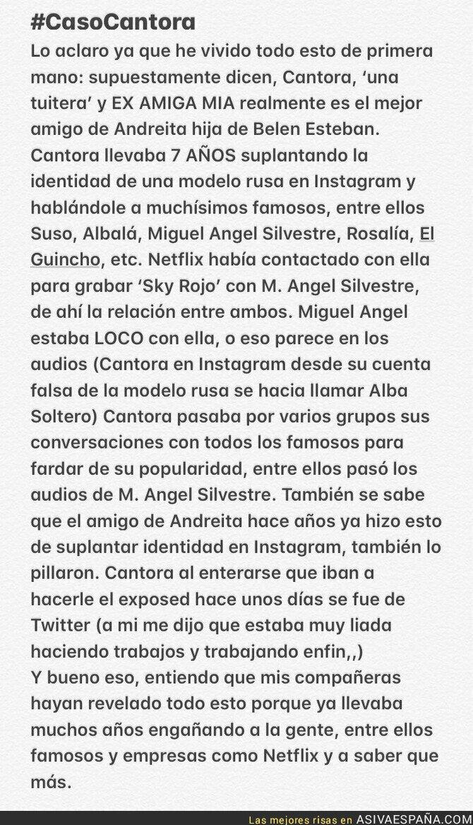 128306 - Filtran un audio del actor Miguel Ángel Silvestre ligando de forma muy loca por Instagram con una modelo rusa que ha resultado ser un hombre