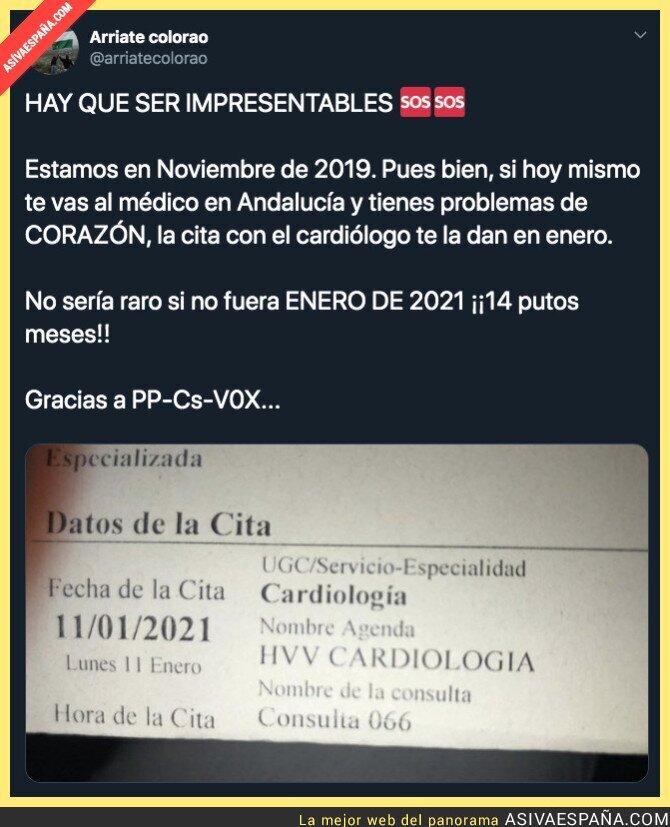 128631 - No hay prisa en la Sanidad andaluza con PP, VOX y Cs