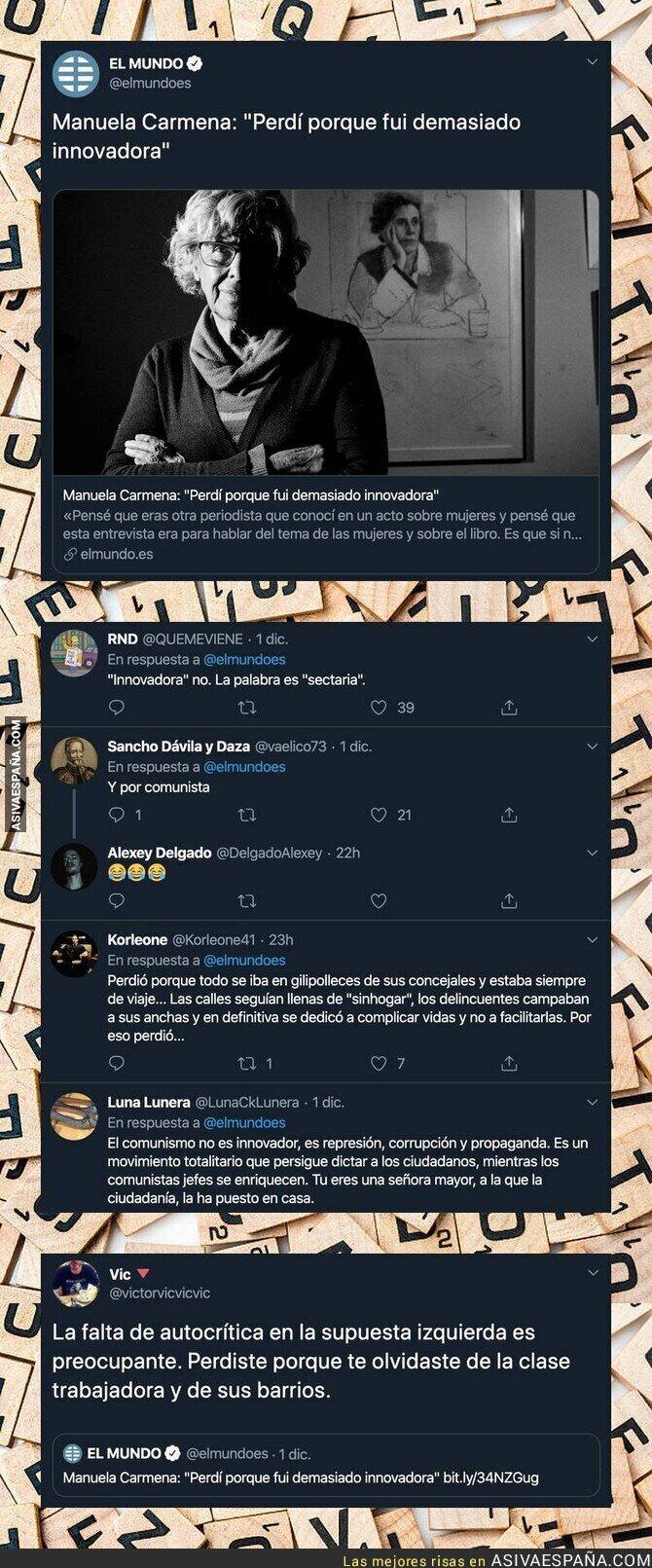 128735 - Lo que se olvidó Manuela Carmena durante la carrera electoral para perder en las urnas