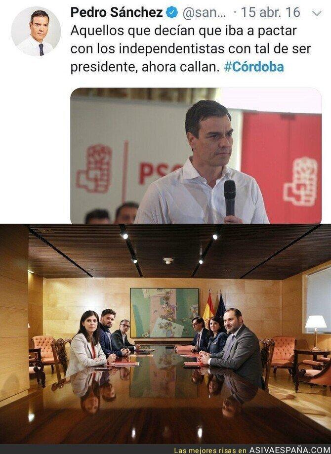 128827 - La foto que no imaginaba el Pedro Sánchez de hace unos meses