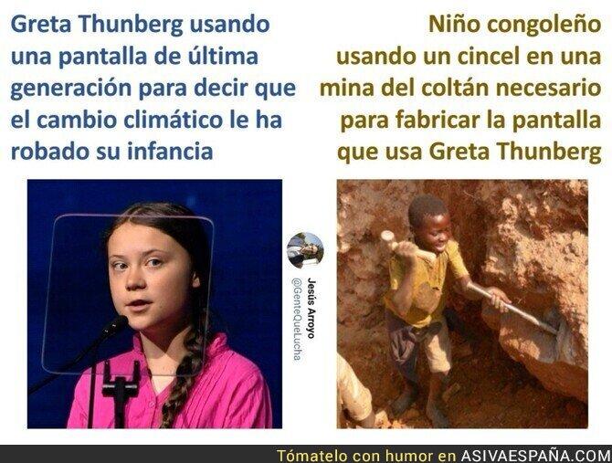 129077 - Greta Thunberg abandona sus estudios para cobrar un millón de euros de todos los españoles