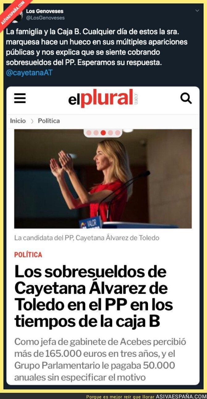 129234 - Los sobresueldos que habría recibido Cayetana Álvarez en el PP