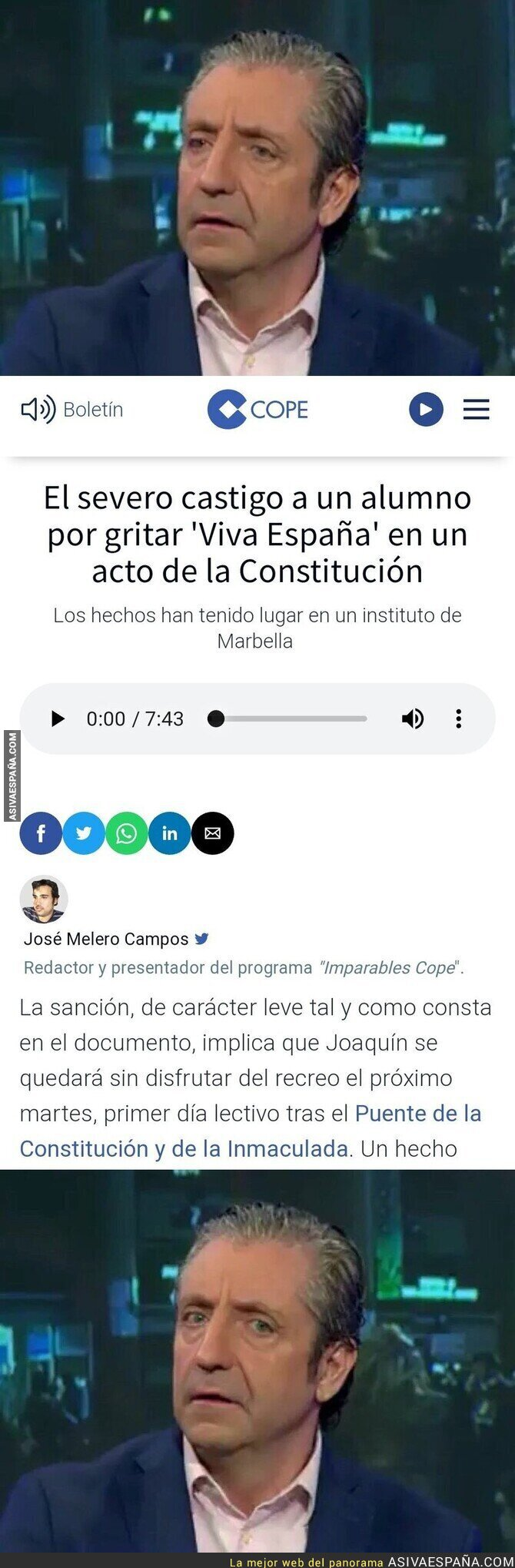 129242 - El tremendo castigo por gritar 'Viva España' en un acto de la Constitución