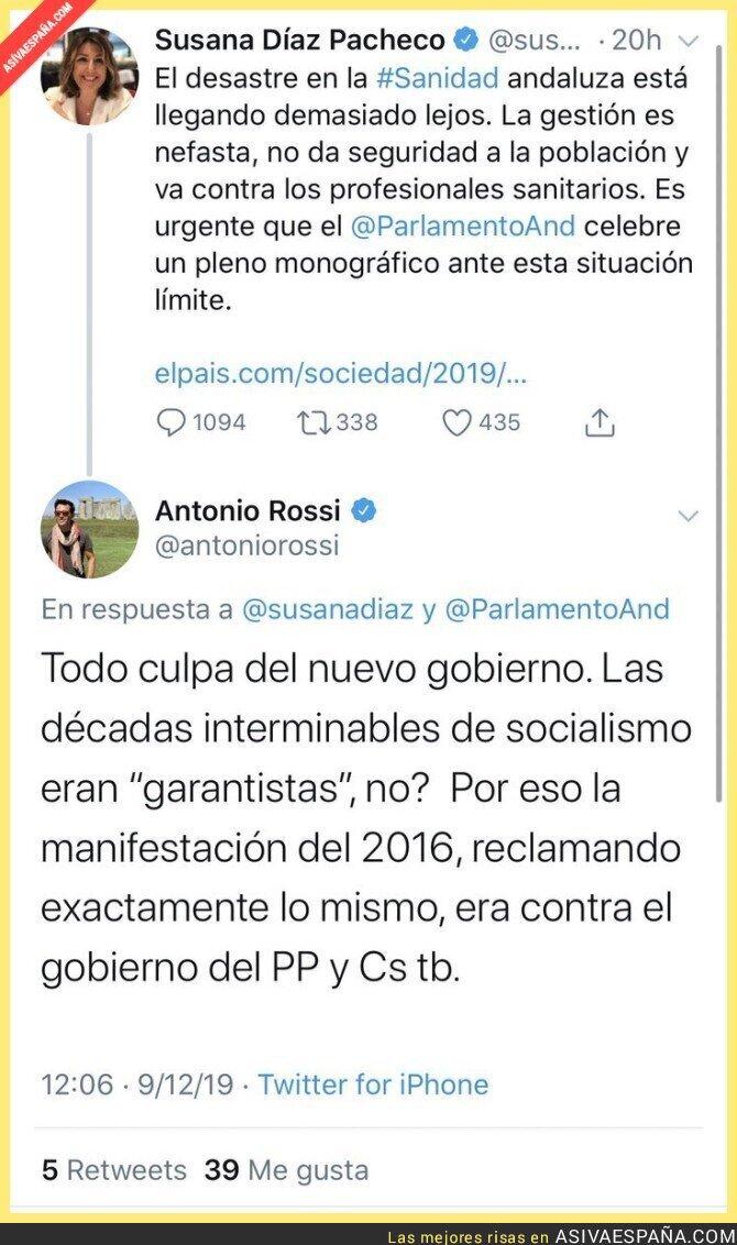 129320 - Antonio Rossi, periodista del corazón de Telecinco, poniendo en su sitio a Susana Díaz por la Sanidad de Andalucía