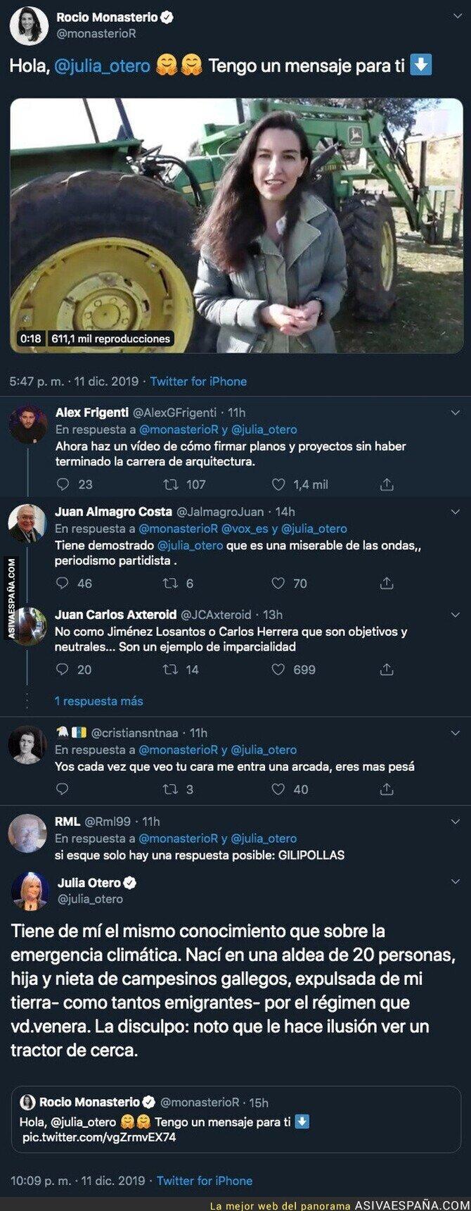 129518 - Rocío Monasterio le dedica unas palabras a Julia Otero y la periodista le responde con un ZASCA descomunal que la ha dejado totalmente KO