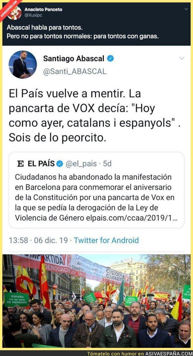 129541 - Santiago Abascal acusa a 'El País' de manipular
