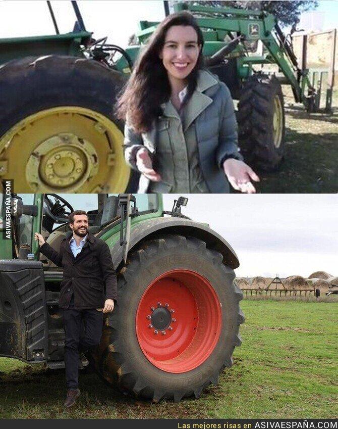 129658 - Solo necesitas una foto al lado de un tractor para retratarte