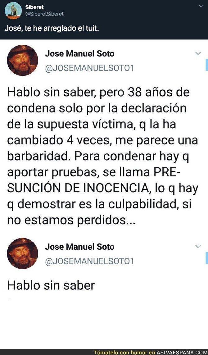 129674 - Arreglando el tuit a José Manuel Soto