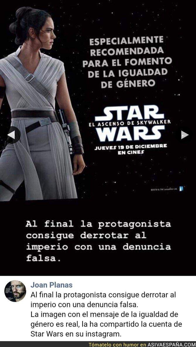129842 - Destrozan la última de Star Wars metiendo el feminismo con calzador