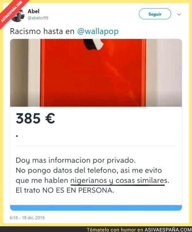 129916 - Vendiendo racismo