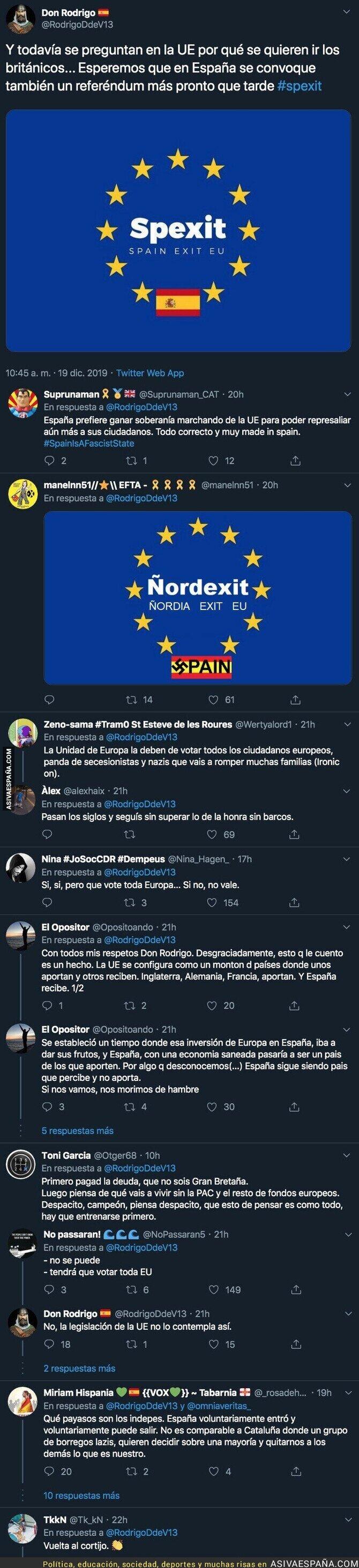 130017 - Piden que España se vaya de la Unión Europea por darle inmunidad a Junqueras y le dan un gran repaso en las respuestas