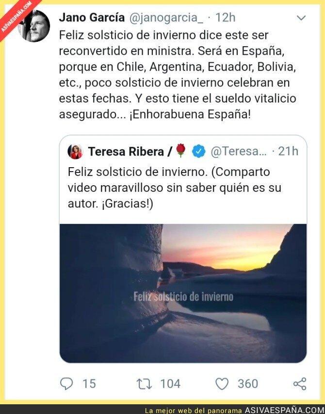 130322 - Zasca a la ministra de Transición Ecológica del PSOE
