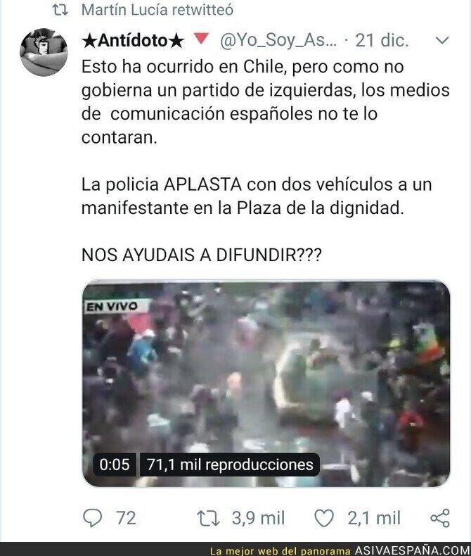 130358 - Como es Chile y no Venezuela no le interesa a nadie