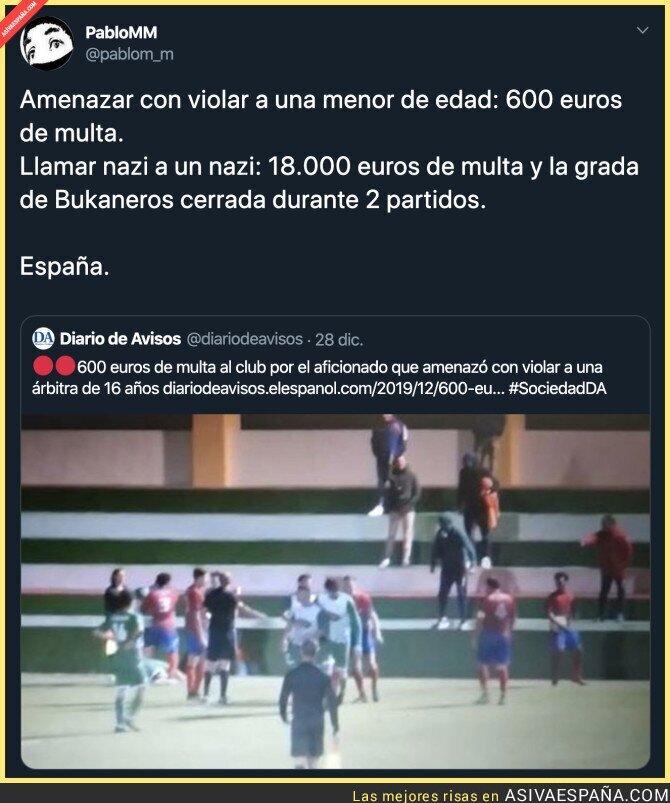 130675 - Las diferentes sanciones que se hacen en España depende a quienes vayan dirigidas
