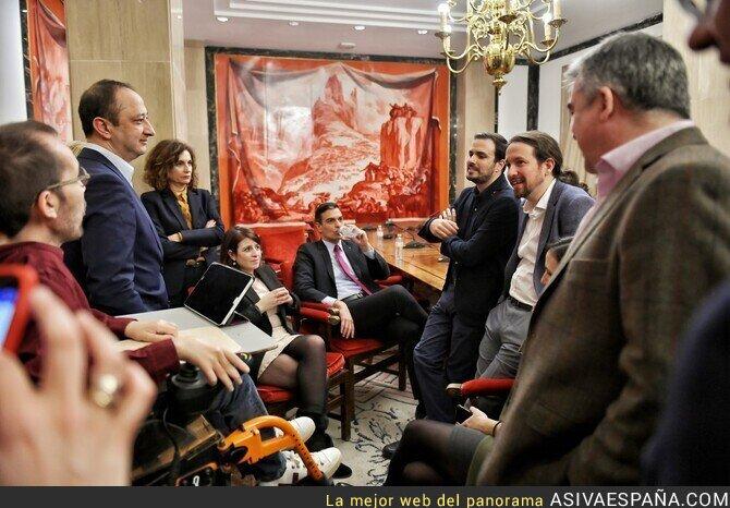 130683 - La foto del acuerdo entre el PSOE y Unidas Podemos. La foto del 2019.