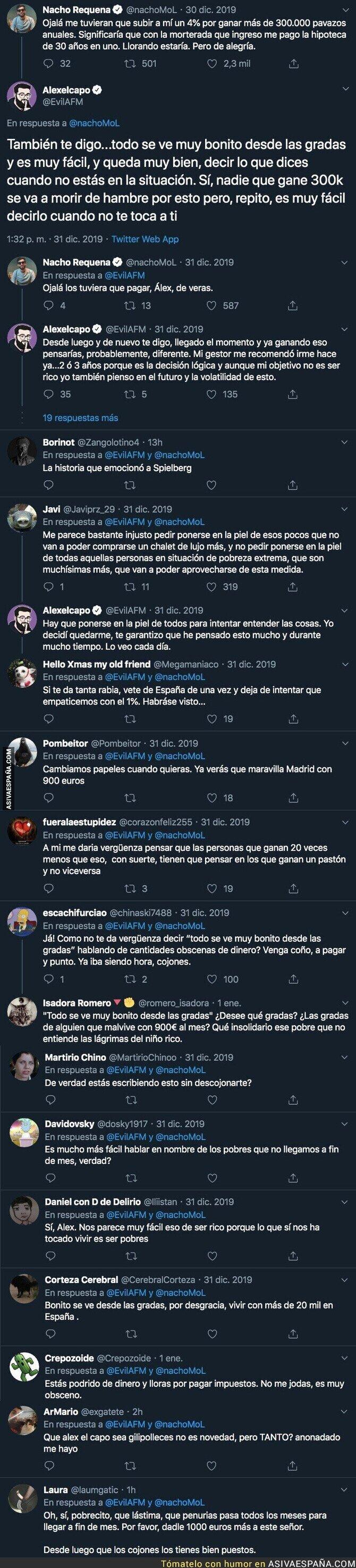 130932 - El youtuber 'Alexelcapo' la lía opinando de esta forma tan polémica sobre la subida de impuestos en España para los que cobran 300.000€