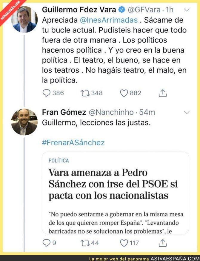 130939 - Hay un barón del PSOE que no parece cumplir su palabra