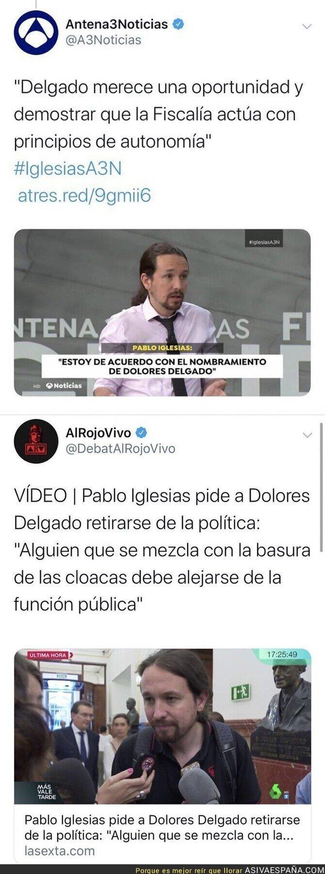 132067 - Y de repente Pablo Iglesias es amigo de Dolores Delgado