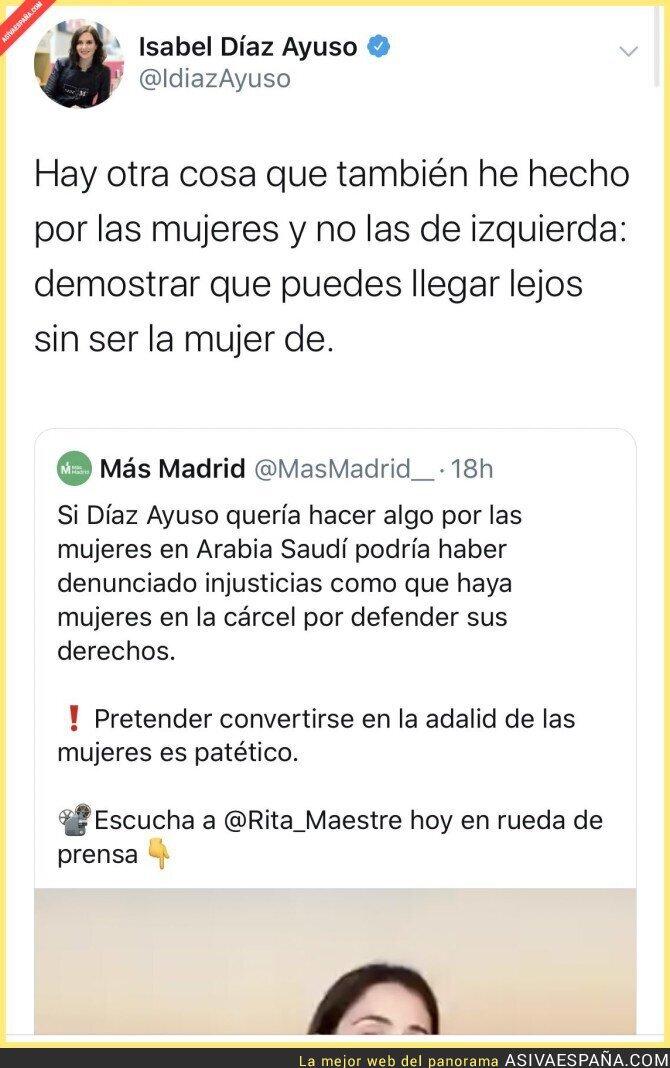 132158 - Isabel Díaz Ayuso le da un repaso a Rita Maestre