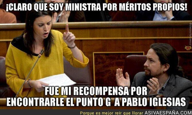 132463 - Ministra de igualdad por méritos propios