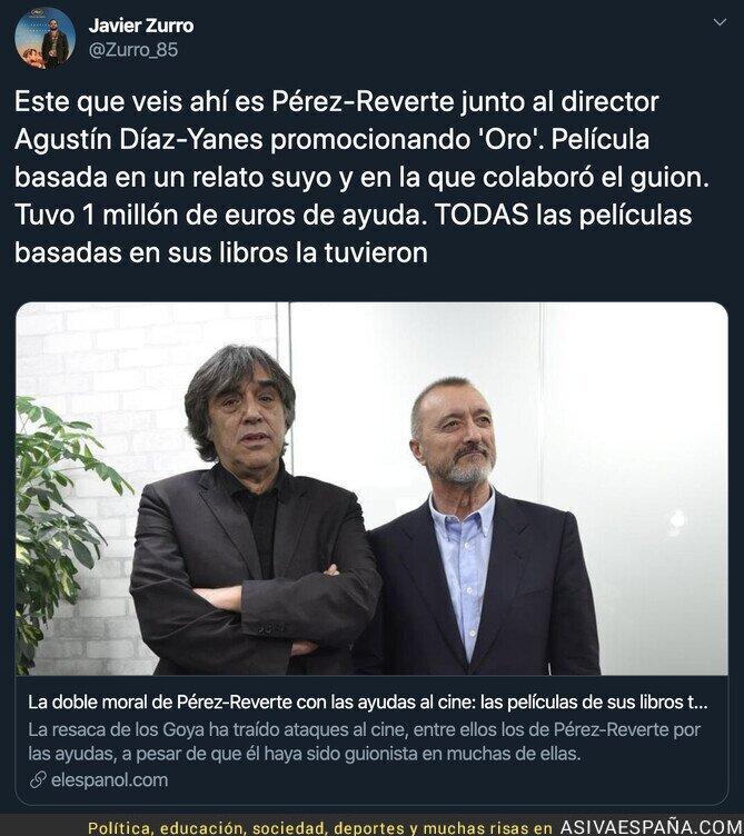 133274 - Las ayudas a Arturo Pérez-Reverte