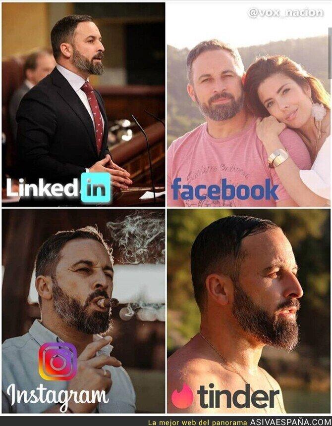 133323 - Los diferentes perfiles de Santiago Abascal