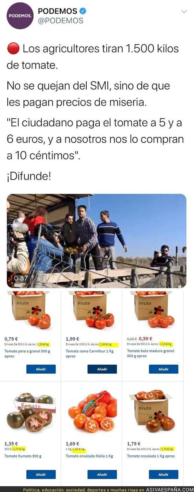 134385 - ¿Qué tipo de tomates compran los de Podemos?