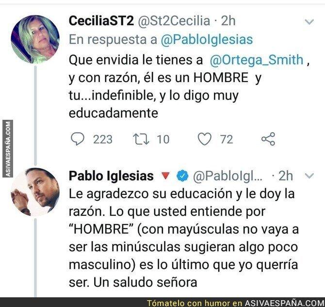 134550 - Pablo Iglesias destroza a una señora que le compara con Javier Ortega Smith