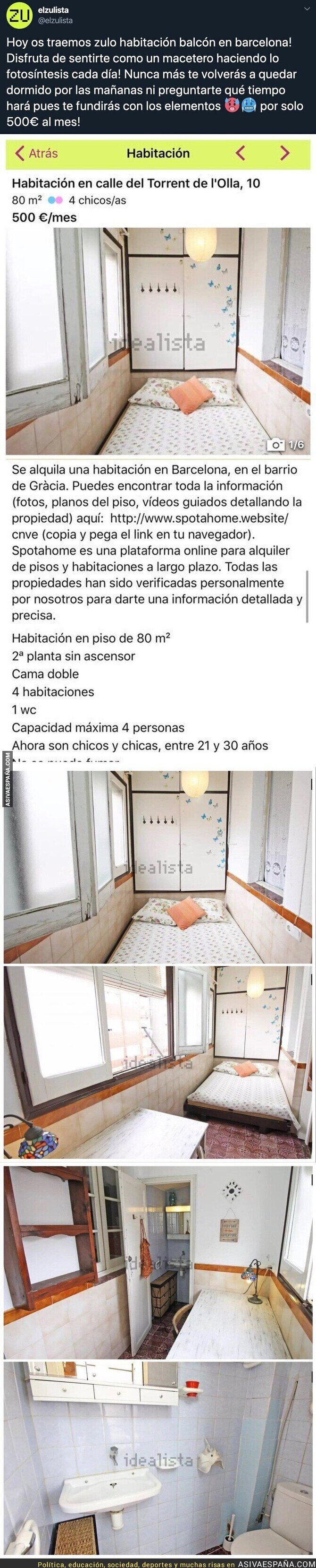 134561 - El vergonzoso precio de esta mini habitación en Barcelona en la que no cabe absolutamente nada para vivir