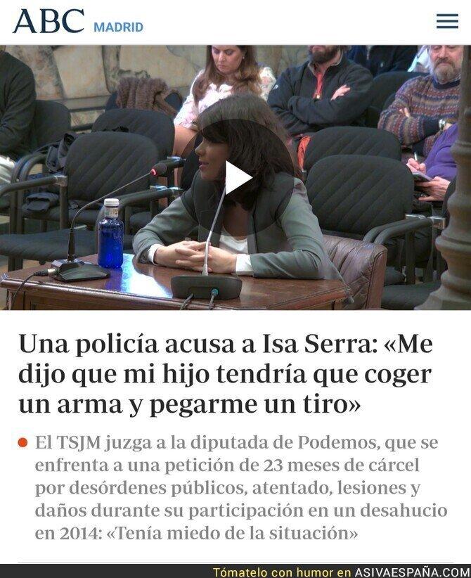 135004 - Isa Serra y su supuesto respeto por la policía