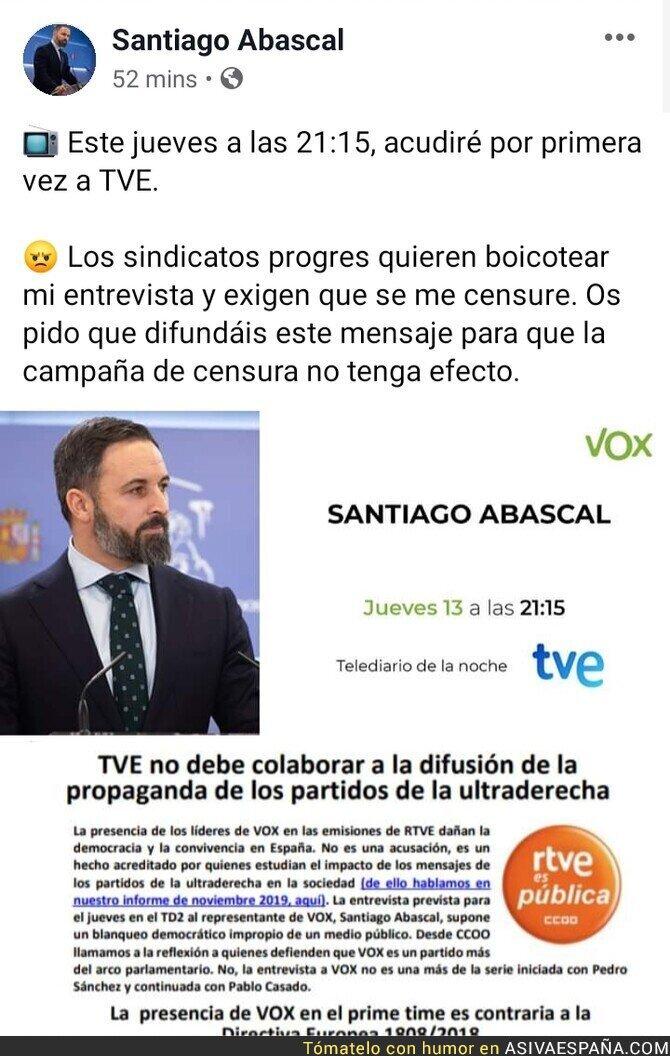 135007 - TVE entrevista a Abascal