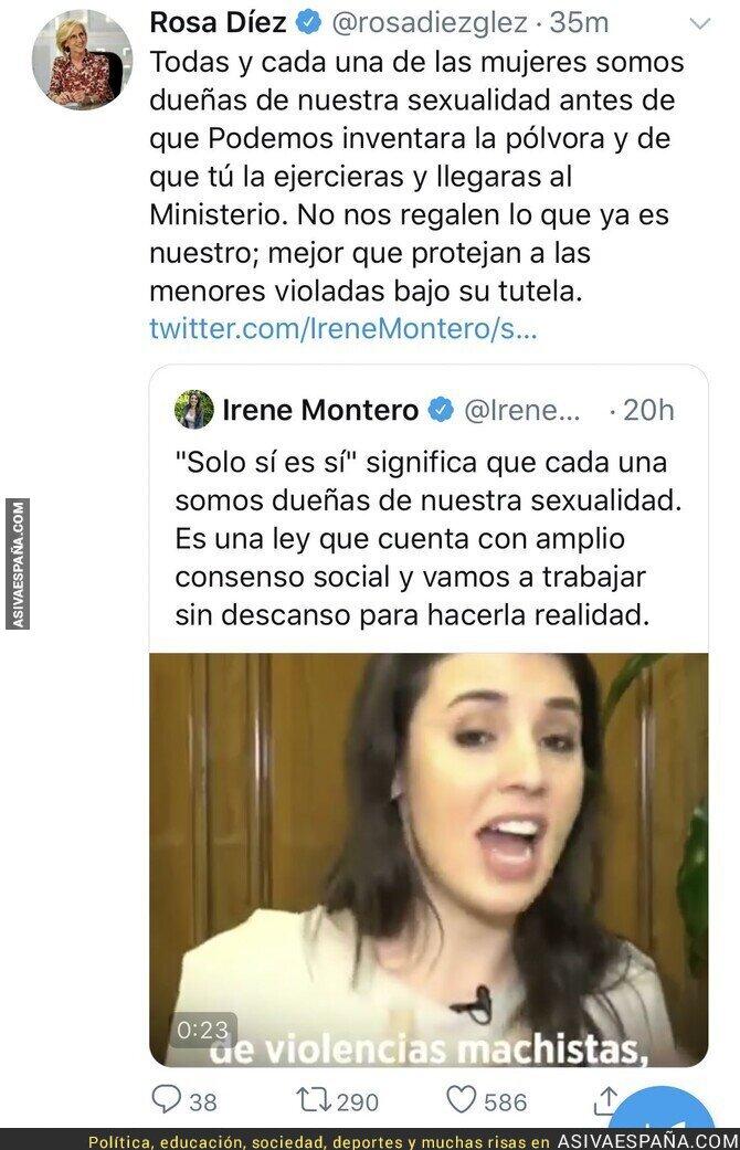 135847 - Rosa Díez le regala un ZAS monumental a Irene Montero