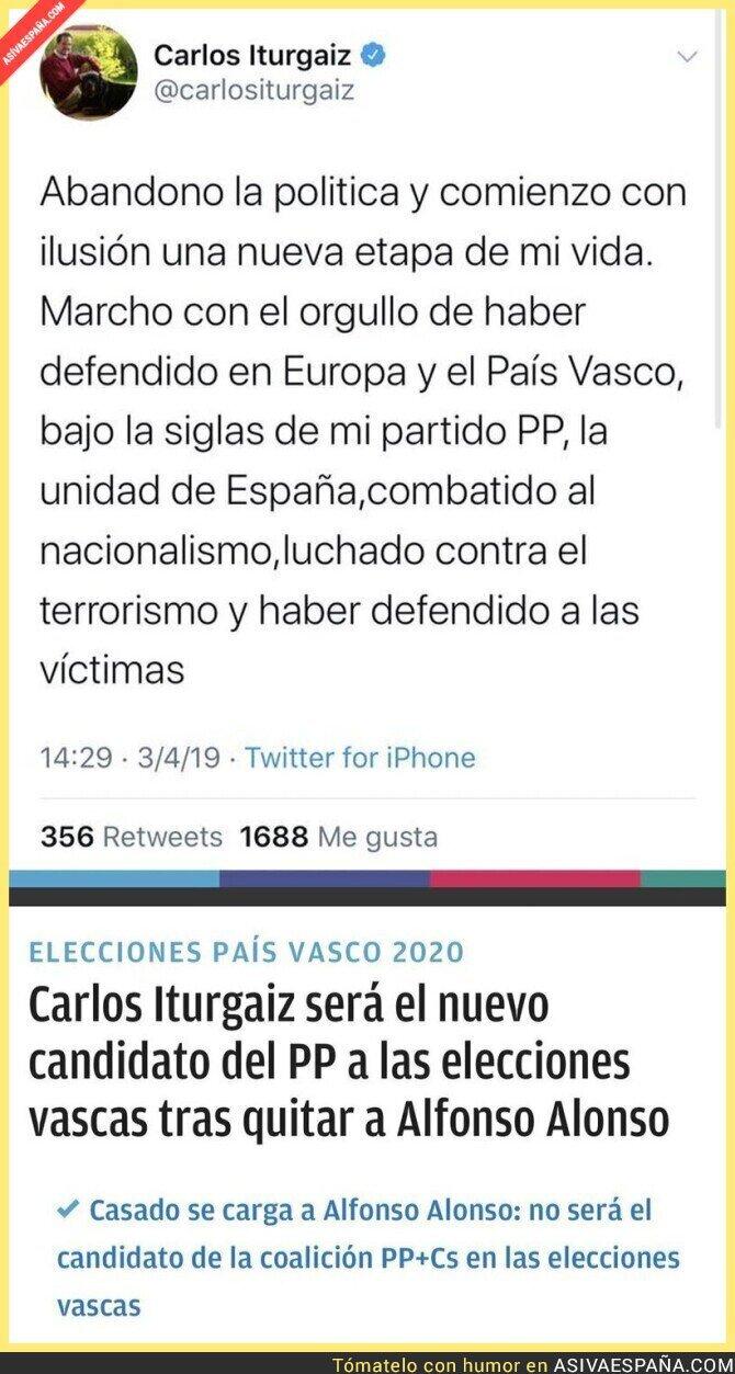 135951 - Ha tardado poco en volver Carlos Iturgaiz