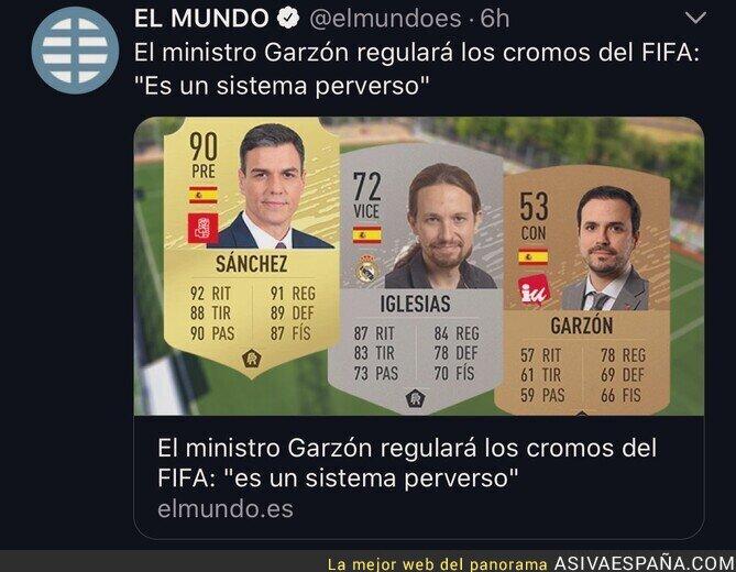 136584 - Alberto Garzón se pone chungo contra las cartas del FIFA