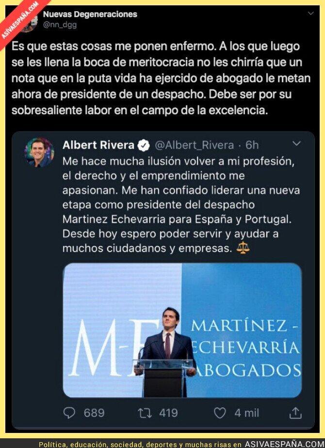 136719 - El nuevo polémico trabajo de Albert Rivera