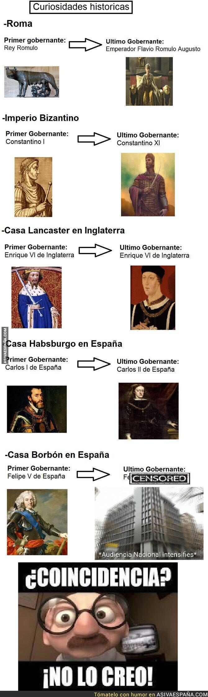 137012 - Primer y últimos gobernantes de algunas dinastías