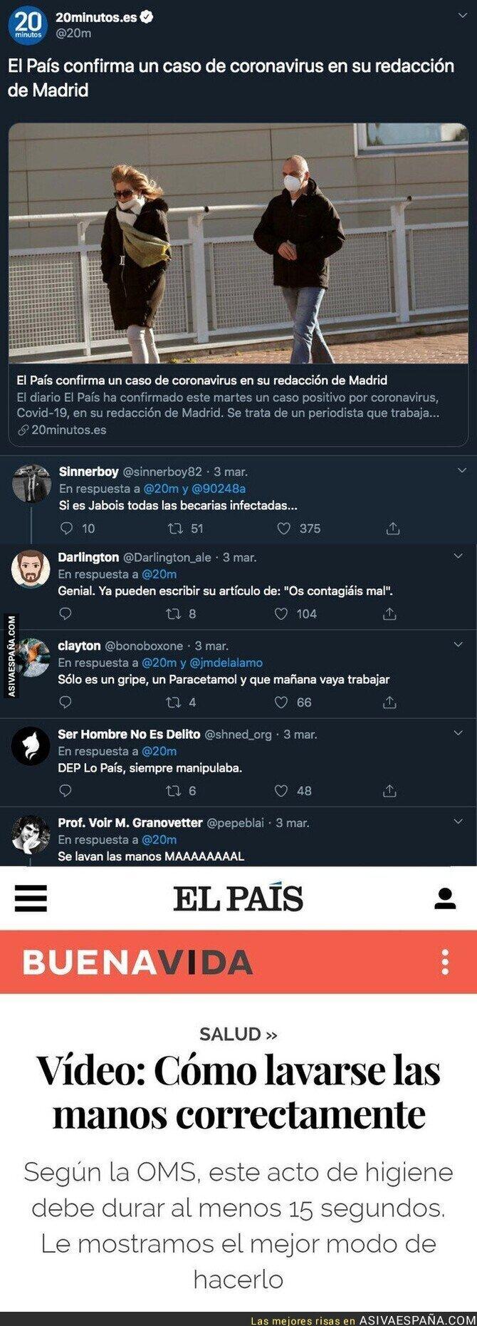 137068 - 'El País' tiene un infectado por coronavirus