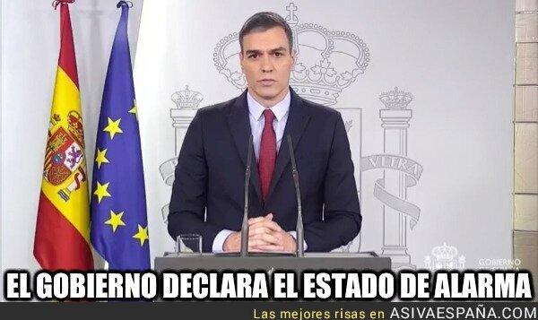 137889 - El presidente del Gobierno anuncia que decretará el estado de alarma en España