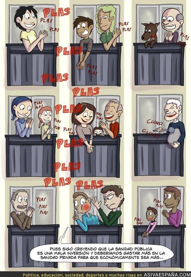 138297 - Aplausos en los balcones