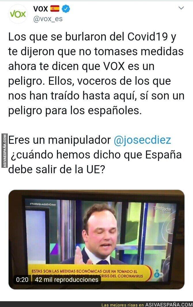 138431 - Comienzan las fake news sobre VOX para desviar la atención de los verdaderos responsables del COVID19 en España