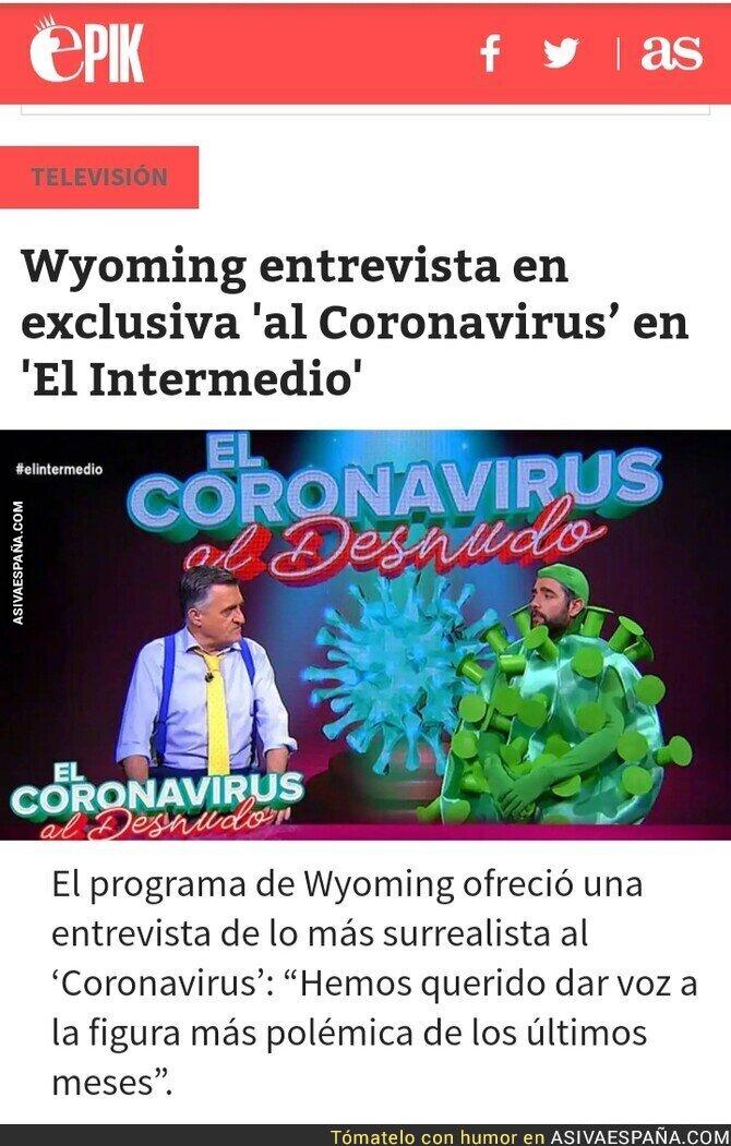 139383 - El licenciado en medicina Wyoming haciendo bromas con el Covid 19 en La Sexta