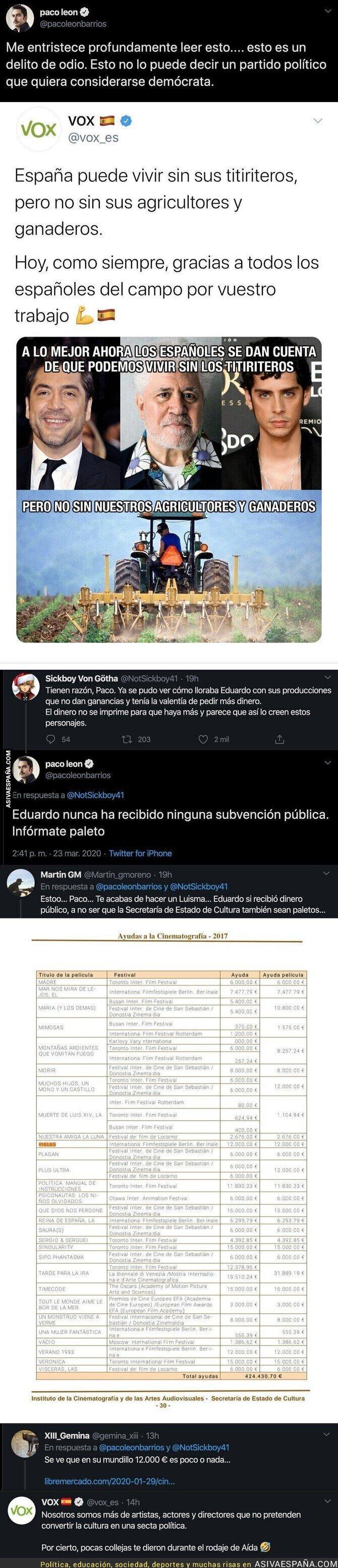 139412 - Paco León se enfada con VOX por este 'meme', se mete en una pelea y varias personas dejan al actor por los suelos