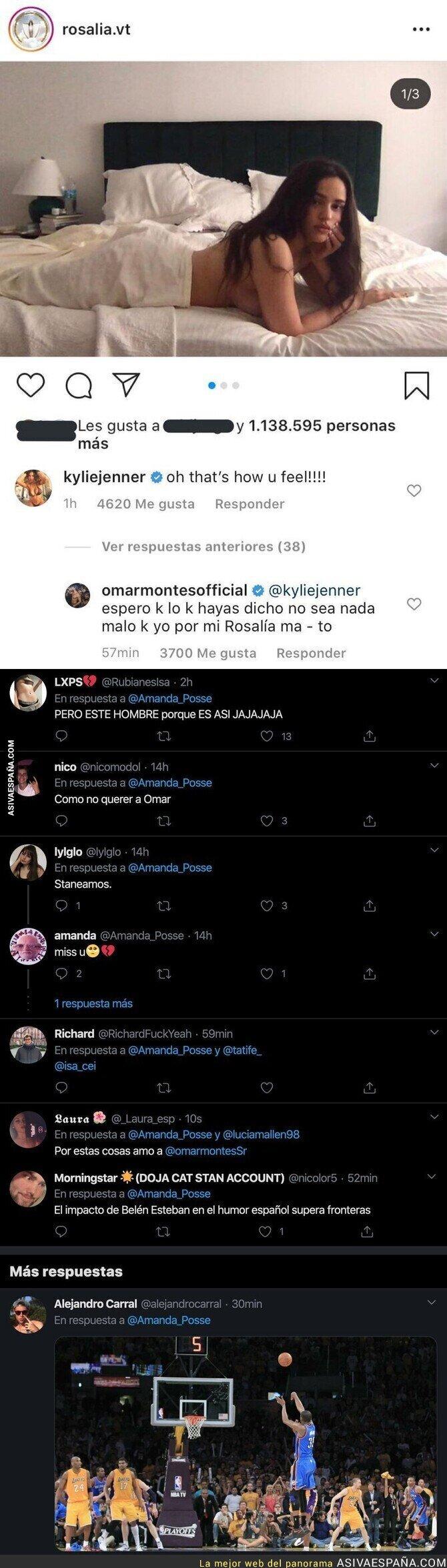 139879 - Rosalía sube una foto casi sin ropa y todo el mundo se está riendo por este comentario que le ha dejado Omar Montes