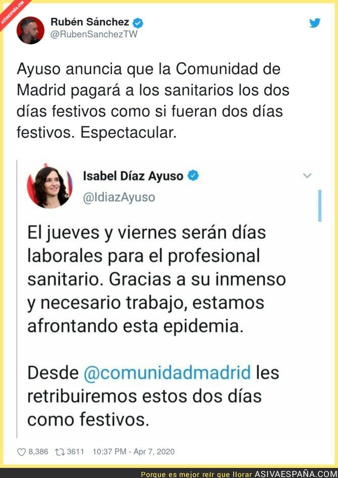 142490 - Un aplauso para Isabel Díaz Ayuso