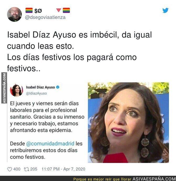 142501 - ¿A quién pretende engañar Isabel Díaz Ayuso?