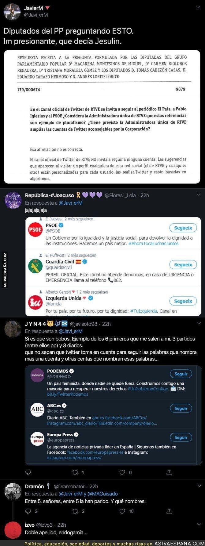 144670 - El ridículo monumental que ha hecho el PP con esta pregunta sobre el Twitter del PSOE